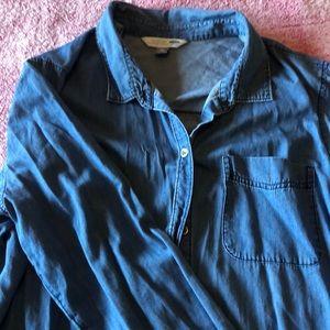 Old Navy XXL jean button up long sleeve shirt NWOT